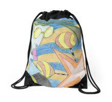 Lemon Pop Park Drawstring Bag