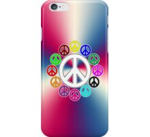 retro surrounded by peace iPhone Case/Skin