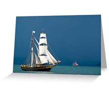 Brigatine Tres Hombres Greeting Card