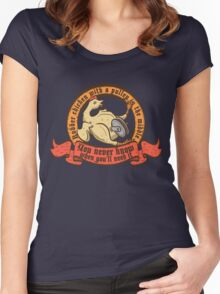 Rubber chicken with a pulley in the middle Women's Fitted Scoop T-Shirt