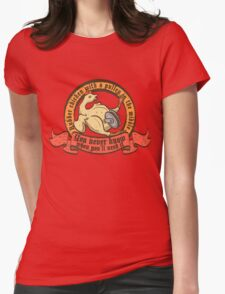 Rubber chicken with a pulley in the middle Womens Fitted T-Shirt