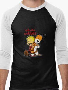 Calvin And doll hobbes Men's Baseball ¾ T-Shirt