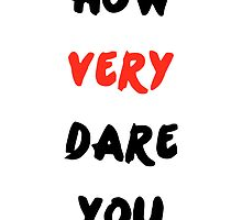 """How Very Dare You"" by undesirable"