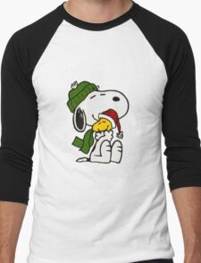 Christmas snoopy Men's Baseball ¾ T-Shirt