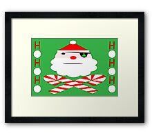 santa jolly roger Framed Print