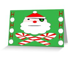 santa jolly roger Greeting Card