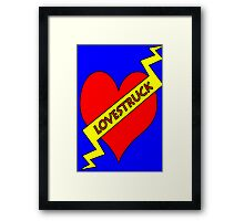 "lovestruck ""tattoo"" Framed Print"