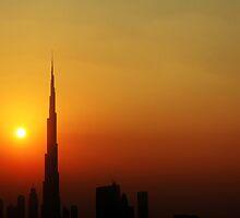 Burj Khalifa Sunset by Omar Dakhane