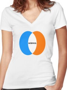 science. Women's Fitted V-Neck T-Shirt