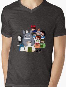 funny ghibli full colour Mens V-Neck T-Shirt