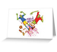 Zombie Soccer Greeting Card