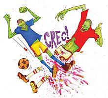 Zombie Soccer Photographic Print