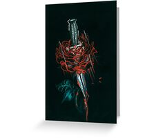 Rose and dagger larry Greeting Card