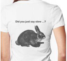 Funny Vegetarian Rabbit Stew T-Shirt Womens Fitted T-Shirt