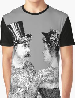 Tattooed Victorian Lovers Graphic T-Shirt