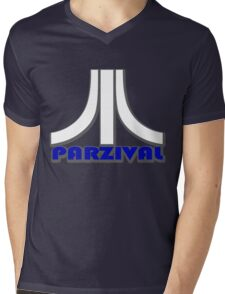 Ready Player One? Parzival Atari Logo Mens V-Neck T-Shirt