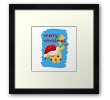 cute pokemon santa  Framed Print