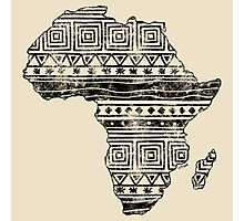 Patterned Map of Africa  Photographic Print