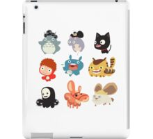 all caracter studio gibli iPad Case/Skin