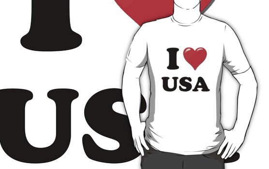 I Heart / Love USA by HighDesign