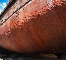 Rusting Hulk at Gloucester Docks, England by fg-ottico