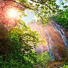 Rainbow in The Waterfall by fine-art-prints