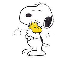 hug Peanuts Snoopy Photographic Print