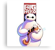 baymax with the cat Canvas Print