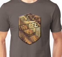 Custom Dredd Badge Shirt - (Van Beek)  Unisex T-Shirt