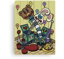 Teddy Bear And Bunny - Jacks In The Box Canvas Print