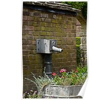 Old Garden Water Pipe Poster