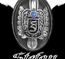 My Blood Type Is Stefan Red & Black VD Fan Logo Sticker