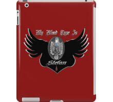 My Blood Type Is Stefan Red & Black VD Fan Logo iPad Case/Skin