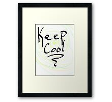 keep cool Framed Print