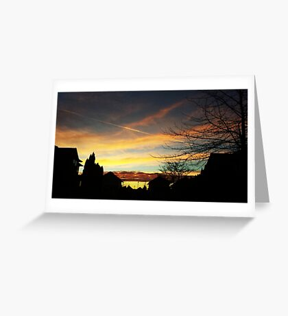 Sunset over Suburbia Greeting Card