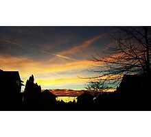 Sunset over Suburbia Photographic Print