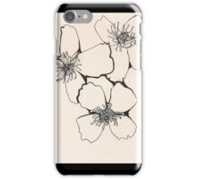 Illustrated flowers iPhone Case/Skin