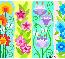 FOUR FLORAL COMPOSITIONS by RainbowArt