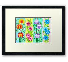 FOUR FLORAL COMPOSITIONS Framed Print