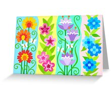 FOUR FLORAL COMPOSITIONS Greeting Card