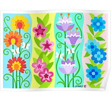 FOUR FLORAL COMPOSITIONS Poster