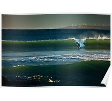Green Pt Beach Right-Hander Poster