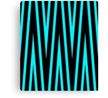 Teal and Black Lines Canvas Print