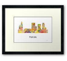 Tulsa, Oklahoma Skyline WB1 Framed Print