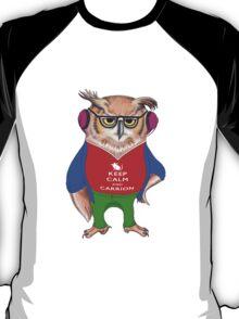 Hipster Owl - Keep Calm T-Shirt