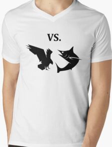 eagle vs shark  Mens V-Neck T-Shirt