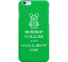 Keep Calm and Vinyl On Green Phone iPhone Case/Skin