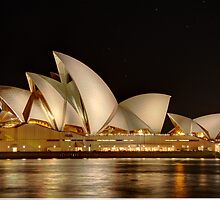 Sydney Opera House stunning at night by renekisselbach