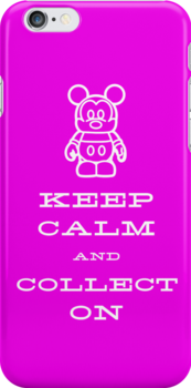 Keep Calm and Vinyl On Pink Phone by stitzerb