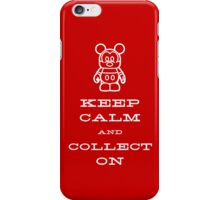 Keep Calm and Vinyl On Red Phone iPhone Case/Skin